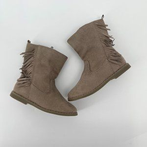 Girls brown fringe boots size 9